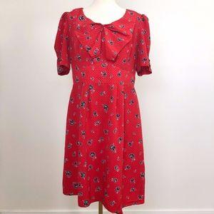 Hi There From Karen Walker Red Dress w/rose detail